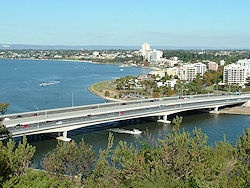 View of Narrows Bridge from Kings Park, Perth, Western Australia