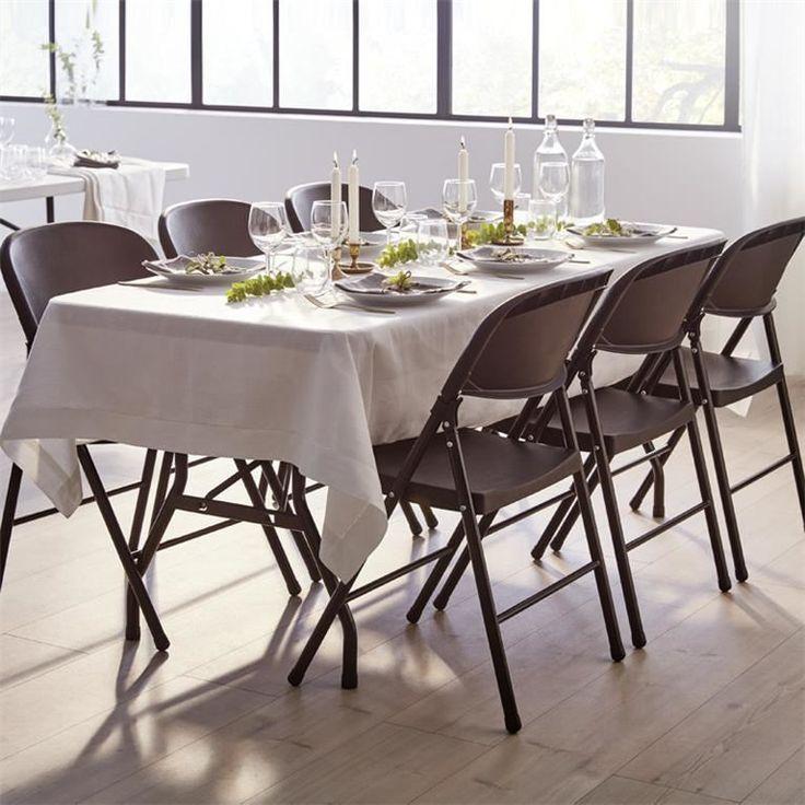 Fällbart bord med 6 stolar