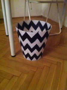 DIY chevron bin - IKEA hack http://ladiy.cafeblog.hu/ #IKEA #chevron #diy #inspiration
