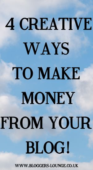 how to make money from your blog uk