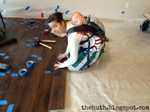 Diy Basics Installing Laminate Flooring I Just Love The Baby On Her Back So Cute