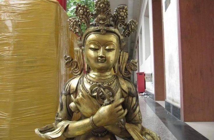 Tibet Buddhism fane Bronze Copper Vajrasattva Bodhisattva Buddha Guan Yin Statue 8.02 #Affiliate