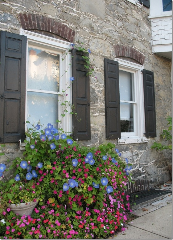 Love the windows, shutters, stone, flowers...basically everything.: Houses Cottages, Limestone Cottages, Flower Inspiration, House Exterior, Window Boxes