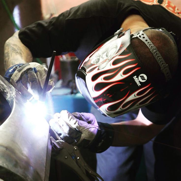 """#BodieStroud Industries' """" #SilentMitchell """" #Welding away with his Digital Series """"Departed"""" Welding #Helmet from Miller Electric Welders !  Check Out www.BodieStroud.com for More Cool Pics, Videos and #News ! #BSI #BodieStroudIndustries #MillerWelders #LosAngeles #CA #HotRods #BSIndustries #Cars #Trucks #X100 #Ford #Chevy"""
