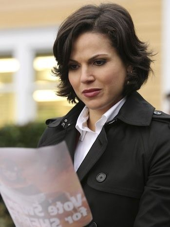 Lana Parrilla: She is so good at being bad. And she has my hair style