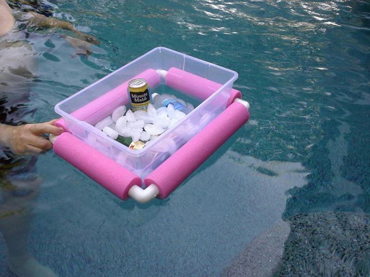 floating cooler just cut up a pool noodle and get some. Black Bedroom Furniture Sets. Home Design Ideas