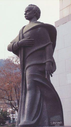 """Monumento al presidente Jose Manuel Balmaceda"" Samuel Roman Rojas  Parque Balmaceda- Santiago  artistasvisualeschilenos.cl"