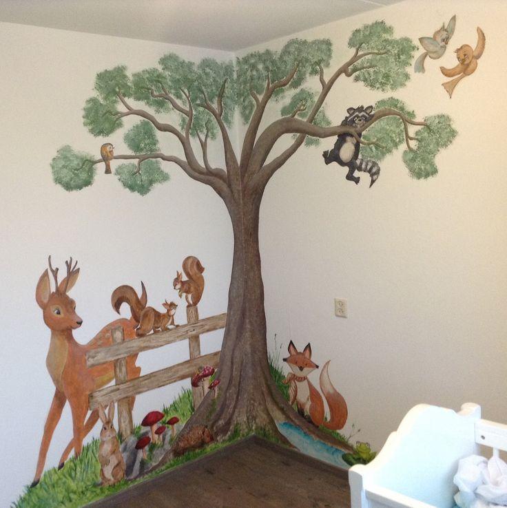 25 beste idee n over bos kamer op pinterest bos slaapkamer slaapkamer behang en boom - Grijs muurschildering ...