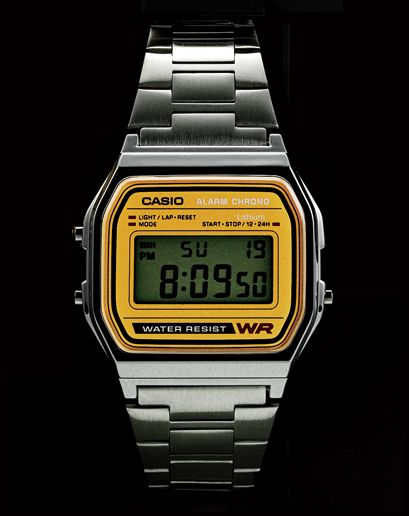 Casio digital watch: it's like 1985 happened right on your wrist.