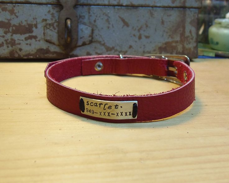 leather cat collar, Small Dog's Collar! ,Personalized cat collar, fuchsia leather collar with name plate, Leather collar, collier pour chat by VakalisCreations on Etsy https://www.etsy.com/listing/248849106/leather-cat-collar-small-dogs-collar
