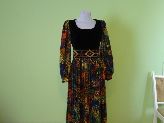 boho hippie retro vintage style tie dye velvet effect waistcoat up to size 14