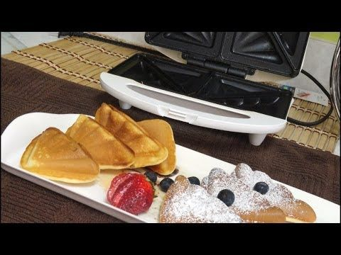 Quick Cake in Sandwich Toaster Video Recipe by Bhavna (5-minute Bachelor cake recipe) - YouTube Sandwich toaster recipes how to make cake in sandwich toaster