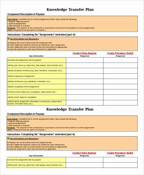 30 Knowledge Transfer Plan Template In 2020 How To Plan
