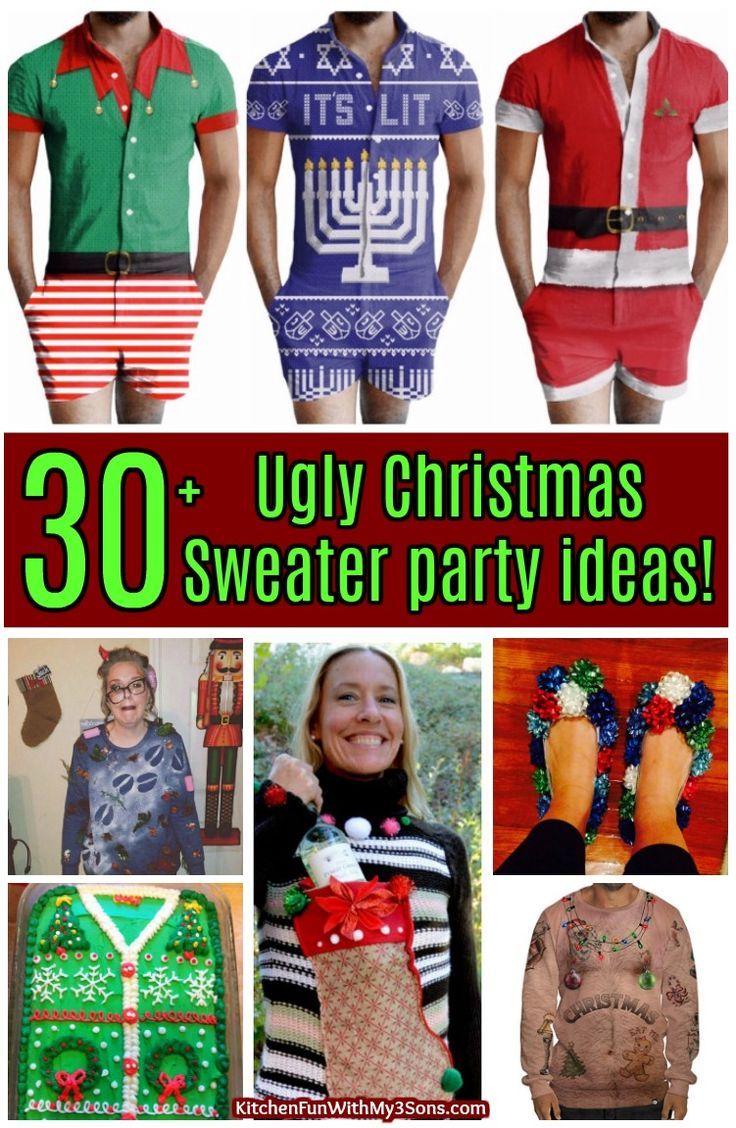 We gathered up the BEST Ugly Christmas Sweater Party ideas that are guaranteed to make you the big hit at your next Holiday event.
