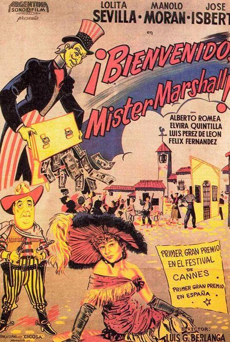 Bienvenido Mister Marshall [Vídeo-DVD] / director Luis G. Berlanga.Años 50. Villar del Río es un pequeño y tranquilo pueblo en el que nunca pasa nada. Sin embargo, el mismo día en que llegan la cantante folclórica Carmen Vargas y su representante, el alcalde recibe la noticia de la inminente visita de un comité del Plan Marshall . La novedad provoca un gran revuelo entre la gente, que se dispone a ofrecer a los americanos un recibimiento muy especial.