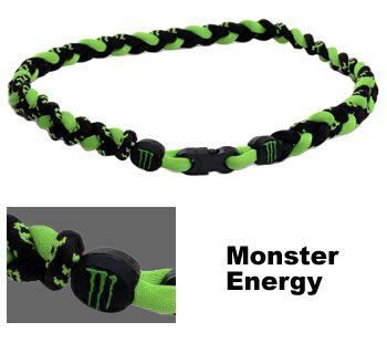 3 Rope Tornado Titanium Necklace Monster Energy