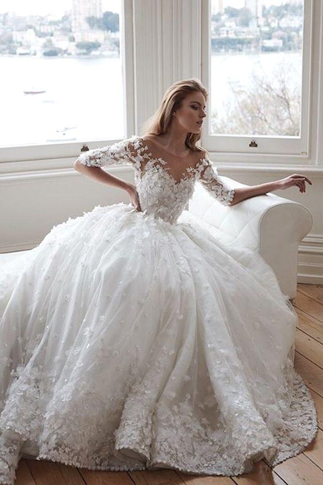 1081 best Half sleeve wedding dresses. images on Pinterest ...
