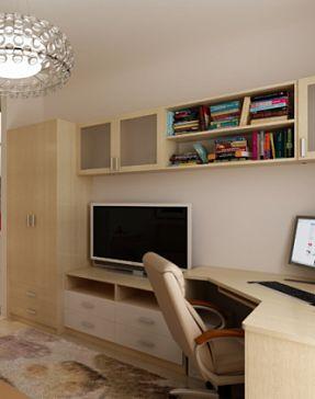 Комплект: Стенка + шкаф + подставка под TV + стол рабочий.