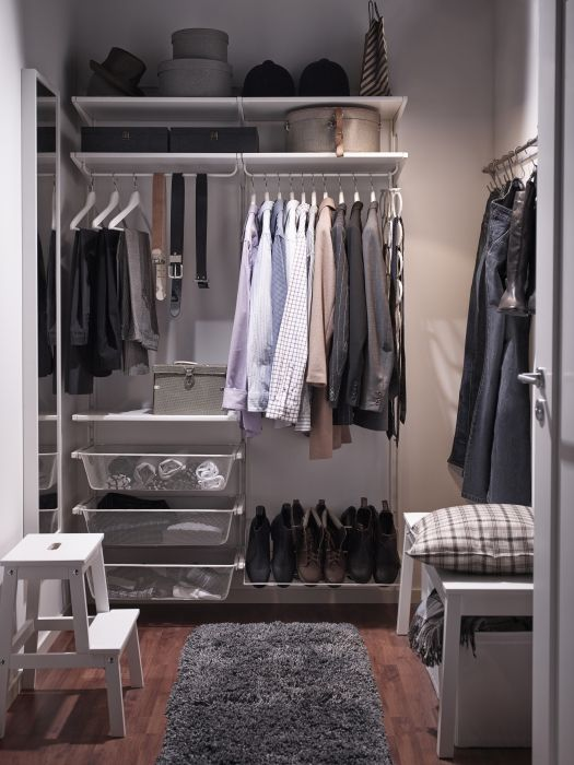 IKEA    An Adaptable Storage System Like ALGOT Makes It Possible To Take A  Small Nook And Turn It Into A Walk In Closet.