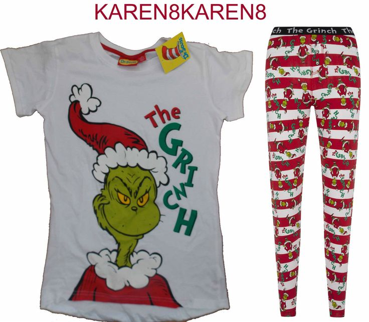 The Grinch Christmas Pyjamas Ladies Leggings T Shirt Primark Uk 6 20