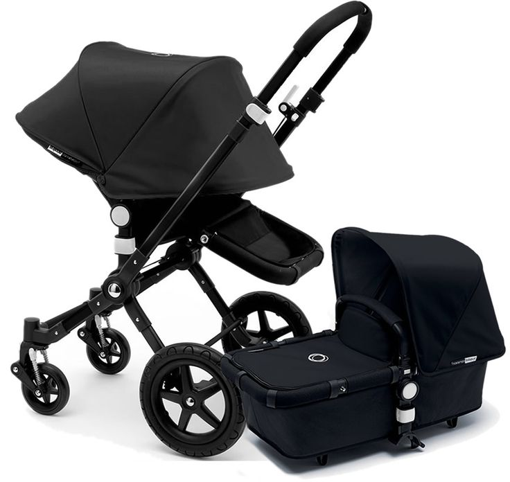 Bugaboo Cameleon 3 Stroller, Extendable Canopy 2015 All Black
