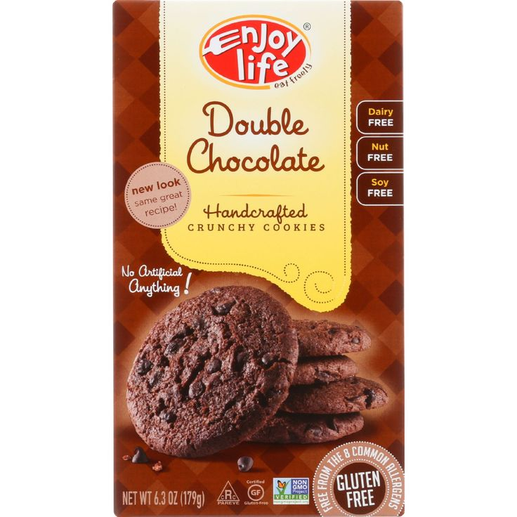We've got a decadent treat for chocolate lovers -- crunchy cookies with double the chocolate, double the satisfaction and double the bliss! Product Free-From: - Gluten - Peanut - Soy - Casein - Potato