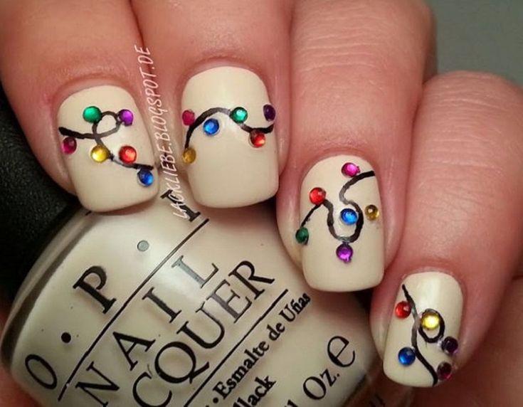 Easy but joyful christmas nails art ideas you will totally love 12