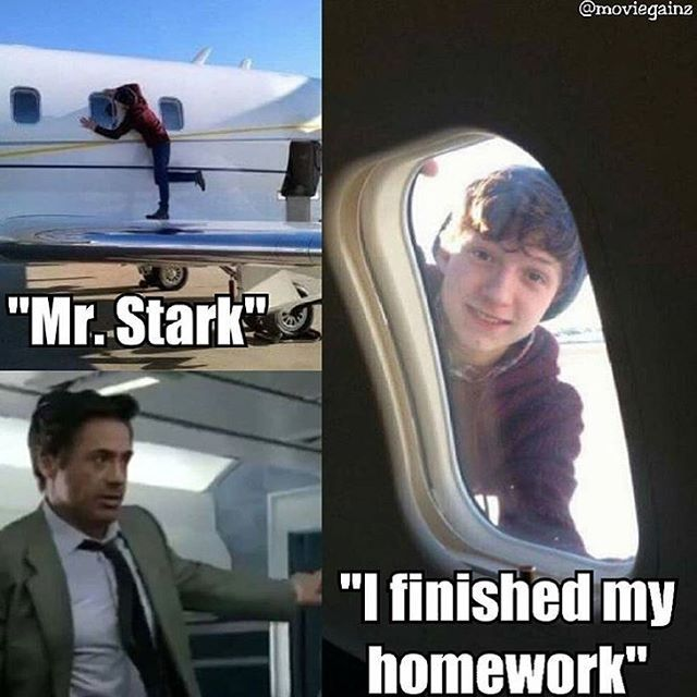 Hahah Peter got his homework done. Aunt May said he could go out and play :) - visit to grab an unforgettable cool 3D Super Hero T-Shirt!