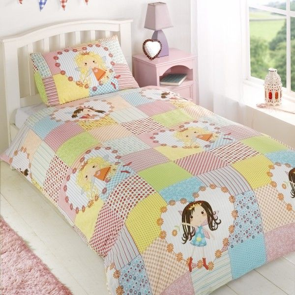Patchwork Fairy Single Duvet Cover And Pillowcase Set The Perfect For Little GirlsCute Design Size X