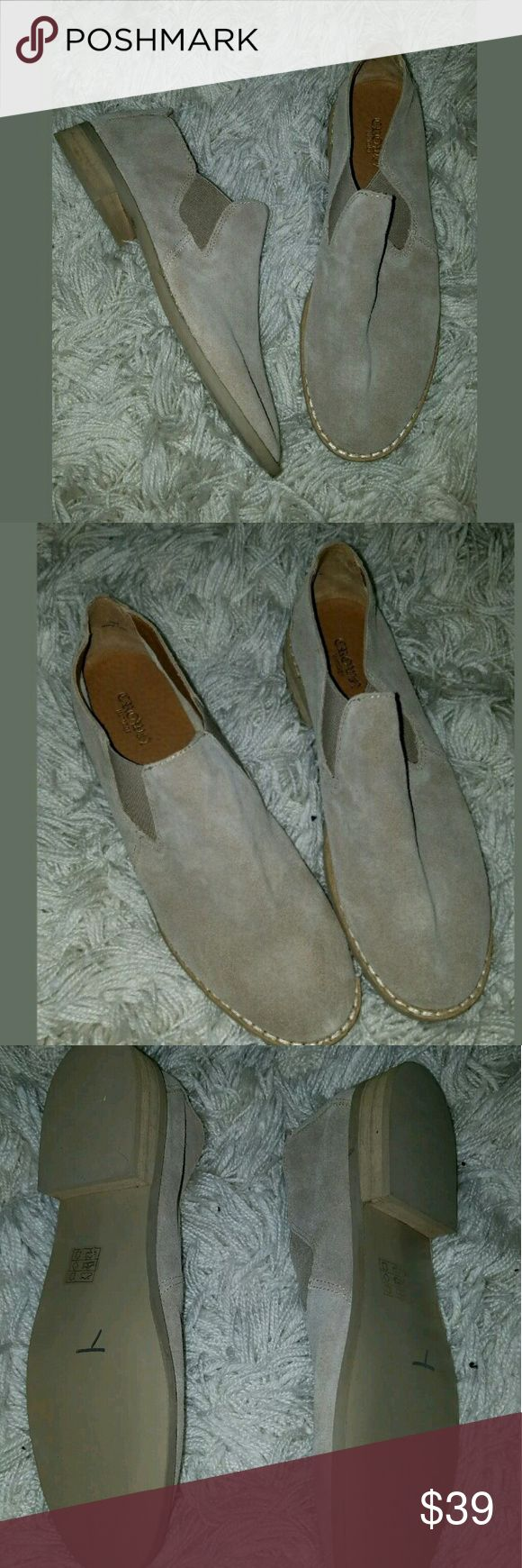 Crown Vintage Ankle Yankee Slip-On Tan Brown Suede Crown Vintage Ankle Yankee Slip-On Tan Brown Suede Loafer Flat Shoes 8.5  New without box.   LB Crown Vintage Shoes Flats & Loafers
