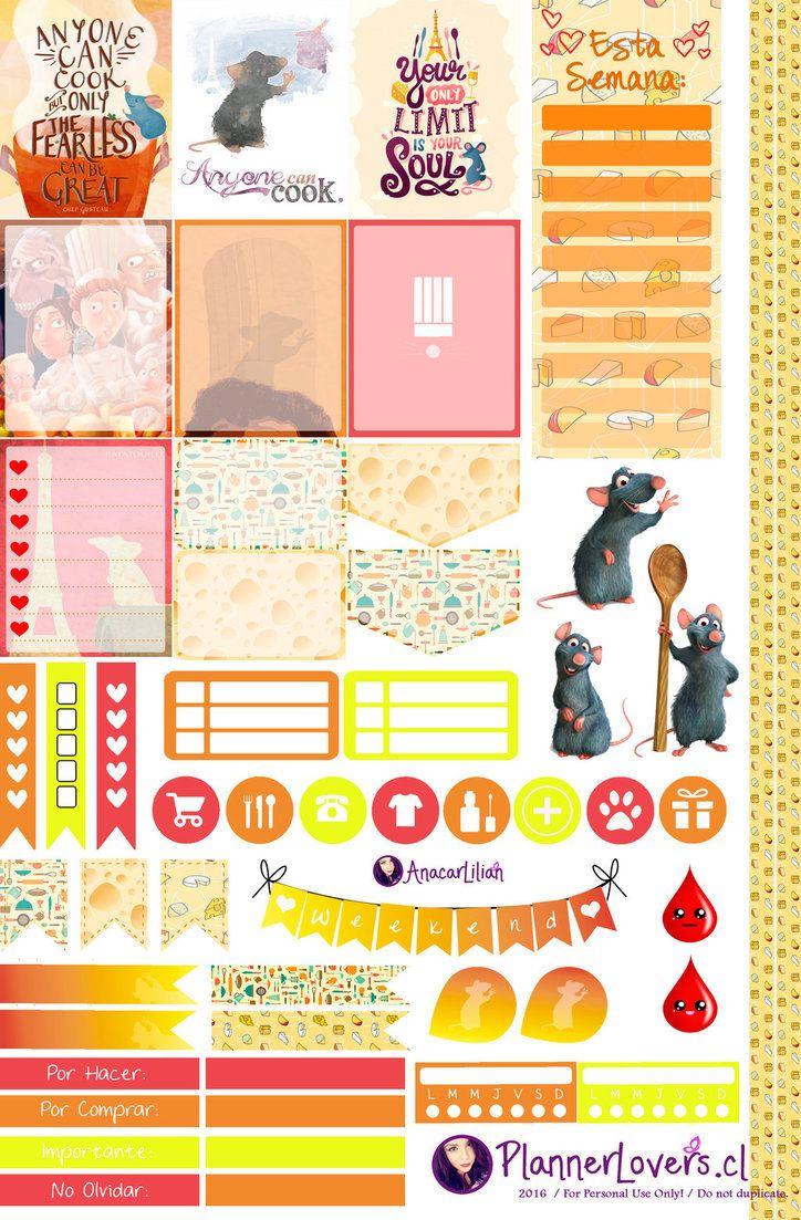 Ratatouille - Stickers for Planners by AnacarLilian.deviantart.com on @DeviantArt