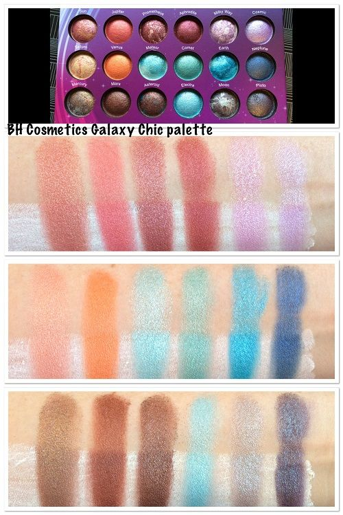 BH Cosmetics Galaxy Chic palette swatches