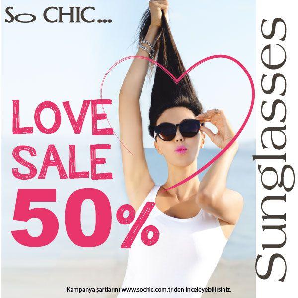 So CHIC… gücünü İtalyan stilinden alan kadın ve erkek güneş gözlük modellerinde temmuz ayı boyunca %50 indirim fırsatı sunuyor. So CHIC… #Espark zemin katta.