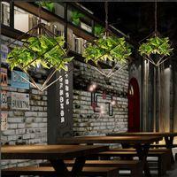 Современный Сельский Зеленый Растения Подвесные Светильники Люстры Балкон Потолочный Светильник Droplight Свет Для Чтения, Спальня Домашнего Декора Подарок