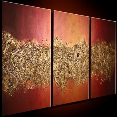 Mary Capan, I love the abstract paintings on her site!