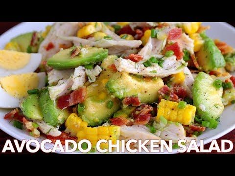 Salads: Avocado Chicken Salad Recipe - Natasha's Kitchen - YouTube