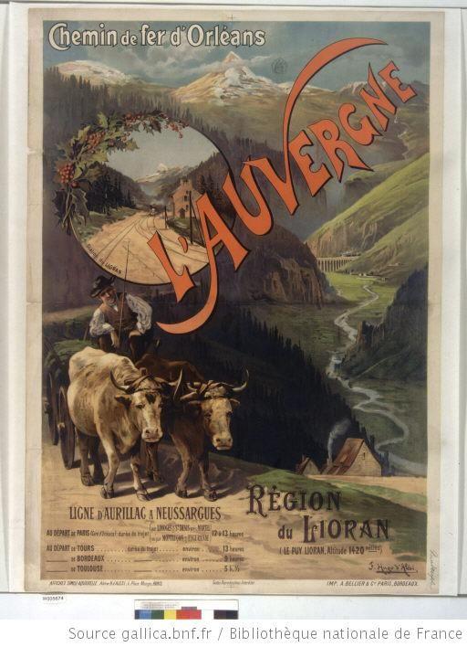Chemin de fer d'Orléans. L'Auvergne. Région du Lioran (Le Puy Lioran) : [affiche] / F. Hugo d'Alési ; Atelier H. d'Alési, 4, place Monge, Paris