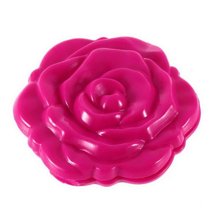 Rose red Rose Flower Shape Cosmetic Makeup Mirror 3D Stereo Double Sided Rose Plastic Rose Shape Mirror