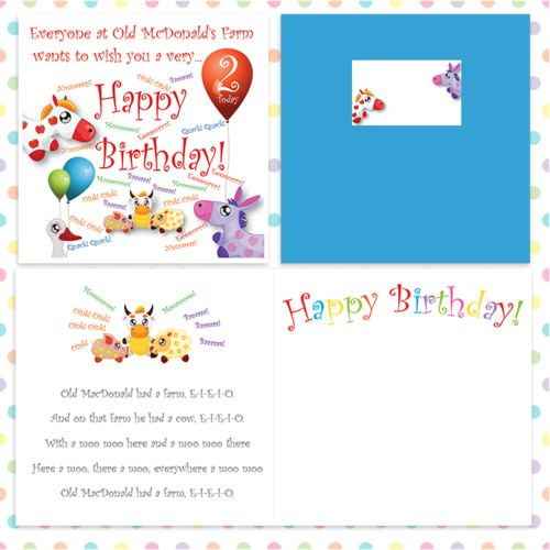 10 best 2 today cute colourful 2nd birthday cards images on old macdonald cute birthday card for 2 today bookmarktalkfo Choice Image