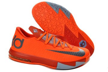 """Kevin Durant KD 6""""NYC 66″Men Size Basketball Shoes Total Orange Armory Slate"""