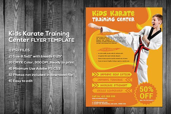 Kids Karate Flyer Template by meisuseno on @creativemarket