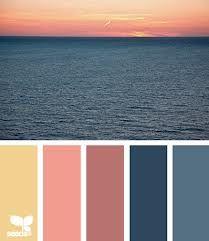 color palettes sunset