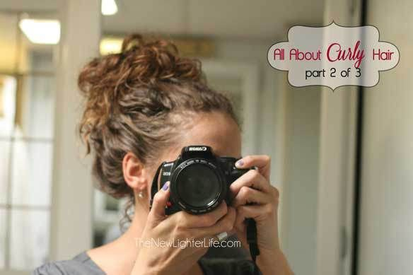 """Curly Hair Styling Tips- I have to try this! A slight variation on the Curly Girl Method, this looks like it'll work well for me- my hair curls like hers before doing the ringlets, so I hope this helps the """"wavy/poofy not ringlet curly"""" look."""