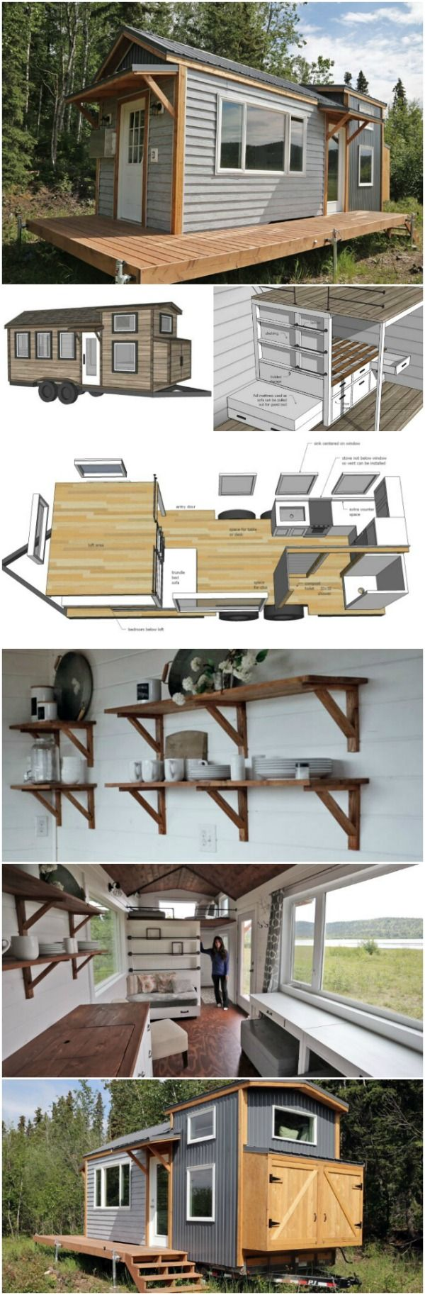 Ana and Jacob are both professionals when it comes to construction, so they know what they are doing, and it shows. They are also very generous, and so they have provided free plans for building a tiny house like theirs. Here is a shot of the interior of the tiny house. This gives a wonderful feel for how cozy it is! #cozy #tinyhouse