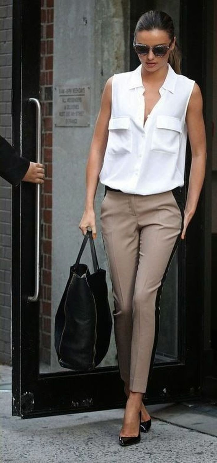 40 Stylish Pair Women Khaki Pants Outfit Ideas For Work – DRESSCODEE