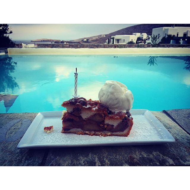Ice-cream, dessert & pool. The triangle of hapiness! Photo credits: 3@fat.gorben #AnemiHotels #Folegandros #anemiTaste