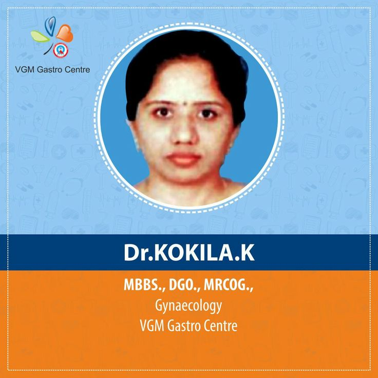 Dr. Kokila.K MBBS., DGO., MRCOG., #Gynaecology department, VGM Gastro Centre. She is specialised in #Obstetrics and gynaecology and treats the female patients. With her wide knowledge and handful experience in this field she takes care of pregnancy and childbirth of her patients. She is a member in Federation of Obstetric and Gynaecological Societies of India (#FOGSI), an Organization representing practitioners of Obstetrics and Gynaecology in India.