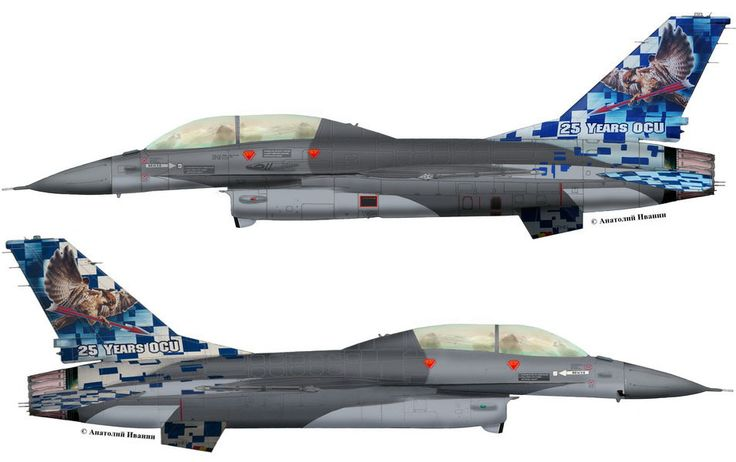 "F-16B Block 15AE OCU #FB-24 (s/n 89-0012, c/n 6J-24) from OCU ""Vulture"" Belgian Air Force - BAF. Anniversary 25 service F-16 in OCU. December 2012."