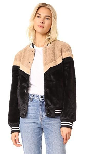 Mixed Faux Fur Bomber by Free People