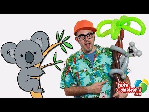 Palloncino Koala e Palma - Balloon Koala and Palmtree -Palloncino Koala e Palma, How to twist a balloon Koala and Palm with balloon art. Tutorial per fare una scultura di palloncini a forma di koala e palma.  Scultura di Palloncini - Koala sulla Palma - Bentornati su Feste Compleanni, oggi vedremo come costruire una nuova e fantastica scultura con i palloncini modellabili. Realizziamo insieme un carinissimo Koala abbracciato alla sua Palma.